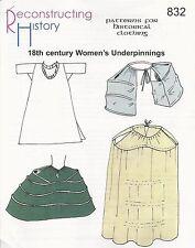 Schnittmuster RH 832: 18th Century Women's Underpinning