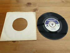 "BOBBY SANSOM "" LADY ONE AND ONLY "" DEMO DECCA 13104"