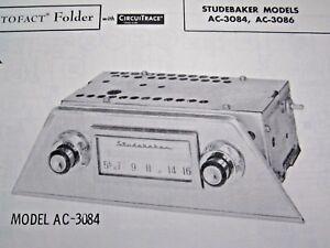 1961 STUDEBAKER AC-3084 & AC-3086 RADIO PHOTOFACT