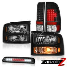 05-07 F250 Turbo Diesel Pair Headlights Tail Lights Assembly LED Roof Stop Smoke