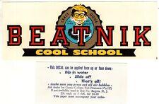 ALFRED E NEUMAN of MAD Beatnik COOL SCHOOL 1960's Water Transfer Decal ORIGINAL