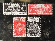 Cinderellas - G King Lundy Island alternative stamps - space issues.