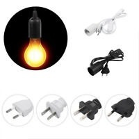E27 Cable Cord Plug Pendant Lamp Light Bulb Holder Socket Base Switch