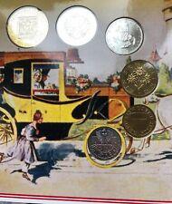Austria Coin Set 6 Coins Pre-euro Schilings BUNC Folder Blister KMS