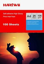 100 Sheet A4 135Gsm Self-adhesive Sticky High Glossy Inkjet Photo Paper Printing