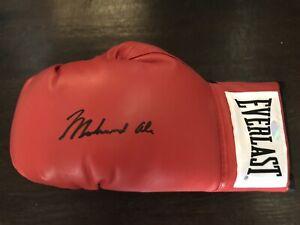 Muhammed Ali Signed Autographed Red Everlast Boxing Glove.. Steiner