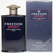Freedom Sport By Tommy Hilfiger 3.3/3.4oz. Edt Spray For Men New In Box