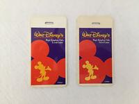 Walt Disney Magic Kingdom Club Traveller Vintage Luggage Tag Orange