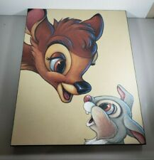 22x17 Canvas Disney Bambi And Thumper Colorful Wall Hanging Picture