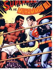 MUHAMMAD ALI VS. SUPERMAN  8 1/2 X 11 BOXING MATCH PROMO