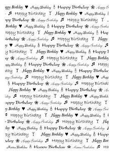 Unmounted rubber stamp Happy Birthday background