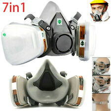 Half Face Facepiece For 6200 Gas Painting Spray Protection Respirator Tool 7in1