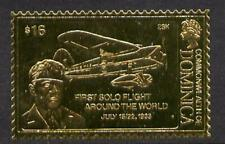 2776 Dominica 1978 HISTORY of AVIATION in GOLD FOIL - WILEY POST  u/m