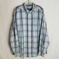 Ariat Mens Plaid Button Front Long Sleeve Casual Shirt Size 2XL Q209