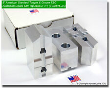 "8"" American Standard Tongue & Groove T&G Aluminum Chuck Soft Top Jaws (2.0"" HT)"