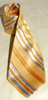 JOS. A. BANK - Yellow & Blue - Striped 100% SILK Men's NECK TIE  *Made in ITALY!