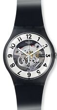 Swatch SKELETOR Silicone Mens Watch SUOB134