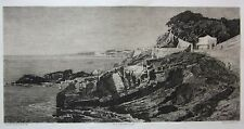 1872 QUARTO Federico Pastoris Serafino De Avendaño acquaforte originale Genova