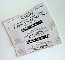 RARE WESTLIFE MEMORABILIA - Unused Tickets Stub(s) NEC Arena Birmingham 23/05/04