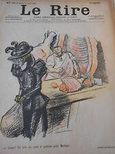 1898 Original Print Caricature Le Boucher Un kilo six cents d'poitrine Madame