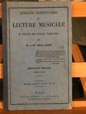 Emile Chevé Exercices élémentaires de lecture musicale 12e édition