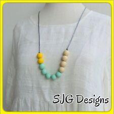 Silicone Ball Pendant - Yellow / Cream/  Lime Green Colour-  New-free Postage