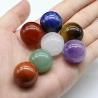 7 Chakra Stones Crystal Natural Healing Gem Ball Reiki Stone 20mm with Pouch USA