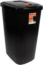 Kitchen Trash Can 13 Gallon Garbage Bin Waste Basket Touch Lid Plastic Black NEW