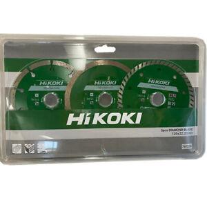 Hikoki 797230 125mm 3 Piece Diamond Wheel Pack