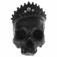 Lifesize Skull King Statue Crown Black Monarchs Figurine Crown Skeleton Decor