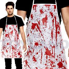 Blood Splatter Bloody Apron Halloween Costume Prop Butcher Nurse Doc Chef Zombie