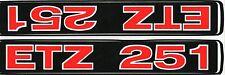 MZ ETZ 251 FRONT SUSPENSION STICKER SET