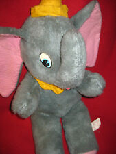 "Jumbo Dumbo Walt Disney Productions Stuffed Animal Doll 20"" Vintage Elephant 50s"
