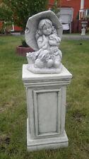 Gartenfiguren, Kinderfiguren, Menschen, Steinguss, 29 cm Skulptur Top Gartendeko