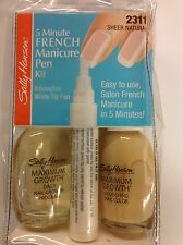 Sally Hansen 5 Minute French Manicure Pen Kit ( SHEER NATURAL #2311 ) NEW.