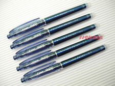 5 x Pilot FriXion 0.4mm Erasable Needle Tip Gel Ink Rollerball Pen, Blueblack