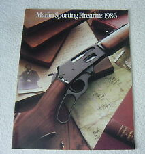 Marlin Sporting Firearms 1986 Gun Catalog