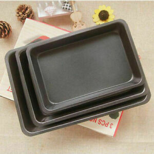 Large Non Stick Oven Roasting Baking Tray, 34,32,30 CM, PACK OF 3