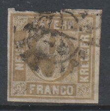 Germania (Baviera) - 1862/3, 9k Bistro-Marrone - 4 margini-USATO-SG 29 (A)