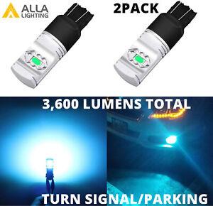 LED 7443 Ice-Blue Front Turn Signal Bulbs for Honda Civic, Light Blub,Sky Blue