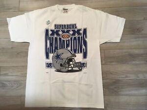 Dallas Cowboys 1996 NFL Super Bowl XXX Champions Locker Room T-Shirt XL NEW