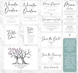 Wedding Invite - Save the Date - Thankyou - RSVP - Evening - Menu - Personalised