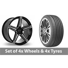 "4 x 20"" GMP Italia MK1 Black Polished Alloy Wheel Rims and Tyres -  275/35/20"