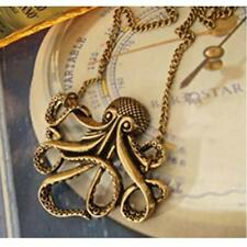 Fashion Steampunk Vintage Bronze Octopus Long Pendant Chain Necklace Jewelry