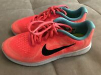 70c04e1eaf50 Nib Nike Free Rn Size 10 Toddler Girls Shoes Blue Void Flash Crimson ...