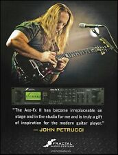 John Petrucci Fractal Guitar Audio Systems Axe-Fx II ad 8 x 11 advertisement