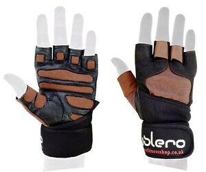 ISLERO Gym Gloves Weightlifting Wrist Support Straps Wraps Bodybuilding Cycling