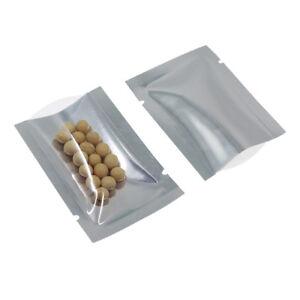 Open Top Clear & Silver Mylar Foil Bag Vaccum Heat Seal Storage Aluminum Pouch