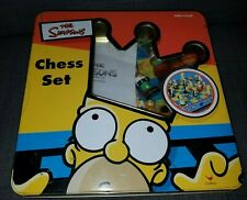 Simpsons Chess Set with Laminated fold-up playing board