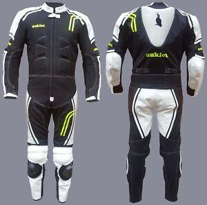 Mini Moto Pocket Bike Suit AUKLET Kids Suit Leather & Textile 4 TO 16 Yeras CE